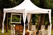 La tente ou aura lieu la cérémonie du mariage…