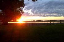Un beau coucher de soleil…